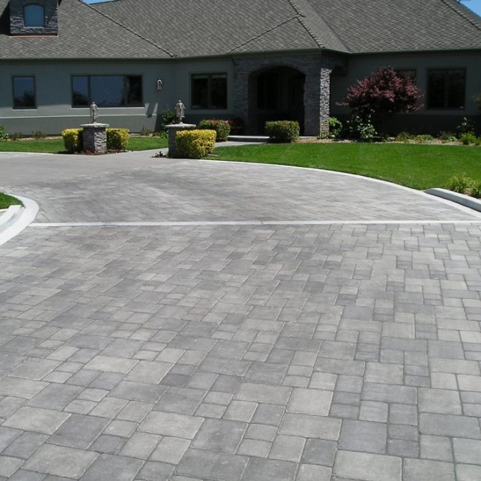 Roman Cobble Grey Charcoal Blend